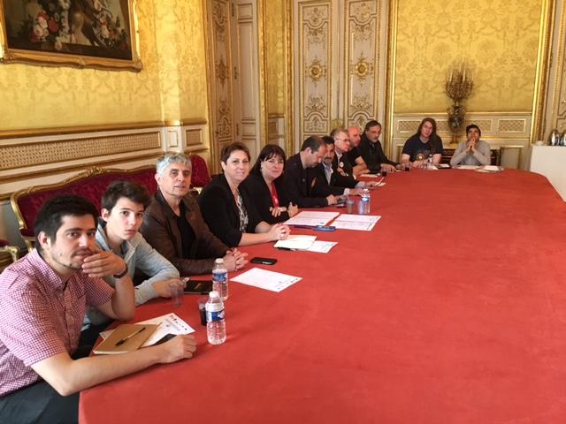 La délégation intersyndicales reçue à l'Elysée
